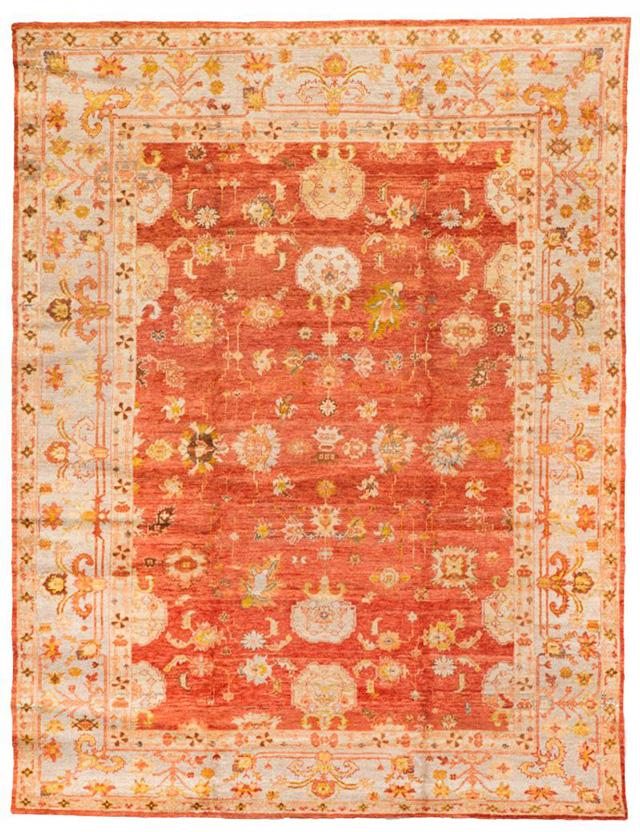 13788-oushak 254 cm x 330 cm  gold,red,light grey