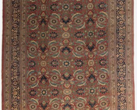 16022---TABRIZ-FROM-NORTH-WEST-PERSIA-5.35-X-3.05-cm-wool-on-cotton-base