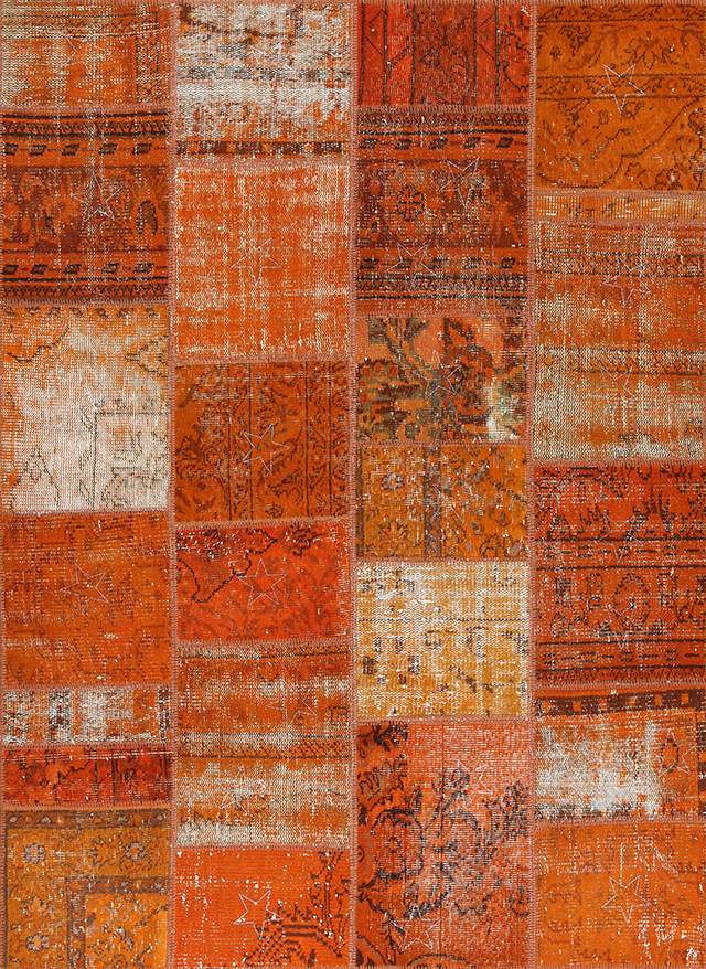 65 Orange - Seri No= 009 (193 x 143 cm)