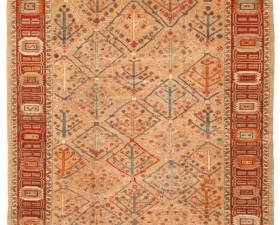 12057- woven legends 325 cm x 391 cm -camel hair,rust